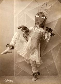 German dancers Lavinia Schulz and Walter Holdt created extravagant, playful, Bauhaus-like costumes