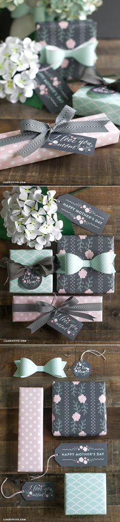 #Mothersdaygift #printablegiftwrap at www.LiaGriffith.com