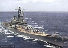 Croiseur USS Iowa après refonte