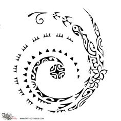 Tatuaggio di Koru e soleluna, Tutto è possibile tattoo - custom tattoo designs on TattooTribes.com