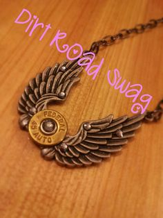 Beautiful+Angel+Wing+Bullet+Necklace+by+DirtRoadSwag+on+Etsy,+$35.00