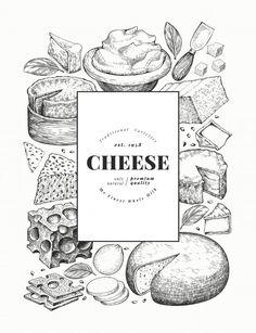 Menu Design, Label Design, Store Design, Cheese Restaurant, Grapes And Cheese, Cheese Design, Cheese Shop, Composition Design, Homemade Cheese