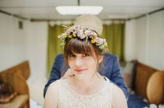 Loving this simple and elegant floral crown up-do I Photo by This Modern Love ... via http://junebugweddings.com/wedding-blog/artistic-honeymoon-session-monachyle-mhor-hotel/