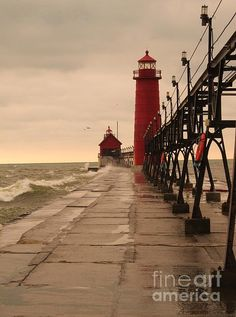 C South Haven Lighthouse Built In 1903 Art Print Home Decor Wall Art Poster