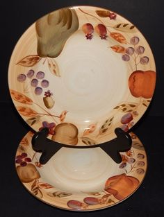 4) GIBSON Designs Housewares EVERYDAY China White with Gold Rim ...