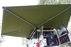 LHS DRIFTA RAPID WING AWNING KIT - Drifta Camping & 4WD Camping Trailer Diy, Diy Camper Trailer, Jeep Camping, Truck Camper, Rv Trailers, Camping Stuff, Renault Master, Car Awnings, Car Shelter