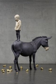 One of Italy's 10 Best Contemporary Artists, Mimmo Paladino man on a horse makes it quite clear as to why he is one of the leading figures of the Transavantgarde movement  http://theculturetrip.com/europe/italy/articles/italy-s-10-best-contemporary-artists-and-where-to-find-them/