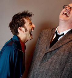 David Tennant, Russell T. Davies - this always makes me smile. I feel like I am part of it even though i got NO idea what is so hysterically funny lol