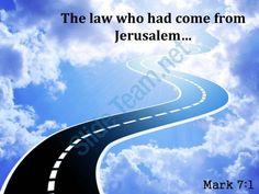 mark 7 1 law who had come from jerusalem powerpoint church sermon Slide01 http://www.slideteam.net/