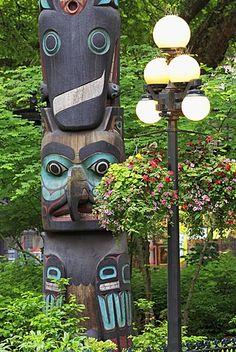 Pioneer Square Totem Pole, Seattle, Washington State