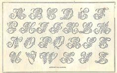 *The Graphics Fairy LLC*: Vintage Clip Art - Beautiful Monogram Alphabet