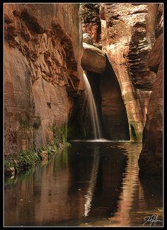 Secret Waterfall in the Secret Canyon, via Flickr; Sedona, Arizona