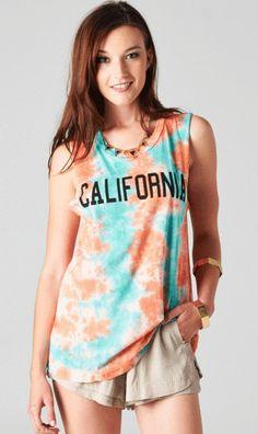 Tie Dye California Tank