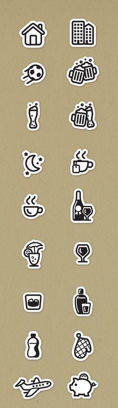 Social Icons by Jorge Dias, via Behance