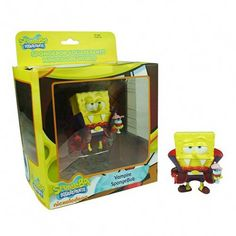 "SpongeBob SquarePants SpongeBob Sledding with Gary Mini Figure World 3.5/"" New"