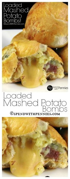 Little cheesy melty bundles of loaded mashed potatoes!  If these aren't the ultimate in comfort food, I don't know what is!: