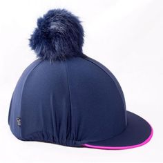00aecbd76e2 Carrots fake fur large pom pom hat cover - navy