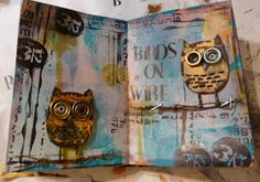 birds on wire journalling page