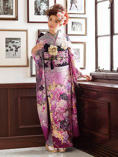 Furukode / beautiful kimono of the world - the tradition of kimono Ishige / Ishige dry goods store Asian Fashion, Fashion Art, Cute Kimonos, Yukata Kimono, Japanese Geisha, Traditional Dresses, Style Inspiration, Japan Events, Clothes