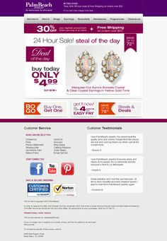 Palm Beach Jewelry - Subject line: Steal of the Day - Aurora Borealis Crystal Earrings Only $4.99