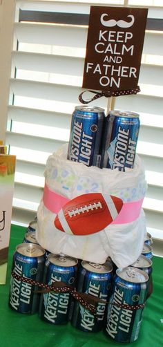 AWESOME idea for Noah & the guys at the shower! A husband soon to be father baby shower with the boys: Chuggies & Huggies Baby Shower. while the mom has her baby shower with the girls Cute idea. obviously, with out the beer for us. Fiesta Baby Shower, Baby Shower Fun, Baby Shower Gender Reveal, Baby Shower Favors, Baby Shower Parties, Best Baby Shower Gifts, Bebe Shower, Man Shower, Diaper Shower