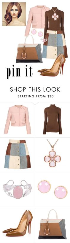 """""""Color Blocking"""" by jfkayla ❤ liked on Polyvore featuring RED Valentino, Laneus, Boohoo, Allurez, NOVICA, First People First, Christian Louboutin and Fendi"""