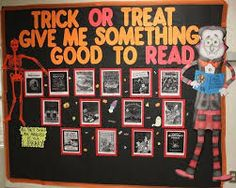 Image result for halloween book displays