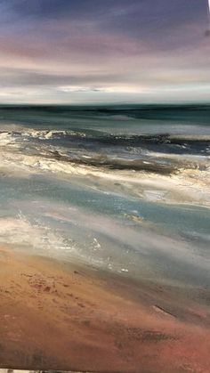 Beach Canvas Paintings, Seascape Paintings, Landscape Paintings, Landscapes, Blue Painting, Oil Painting Abstract, Watercolor Landscape, Abstract Landscape, Strand