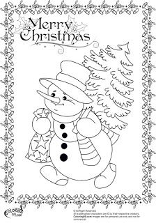 snowman coloring pages - Coloring Pages Snowman 2