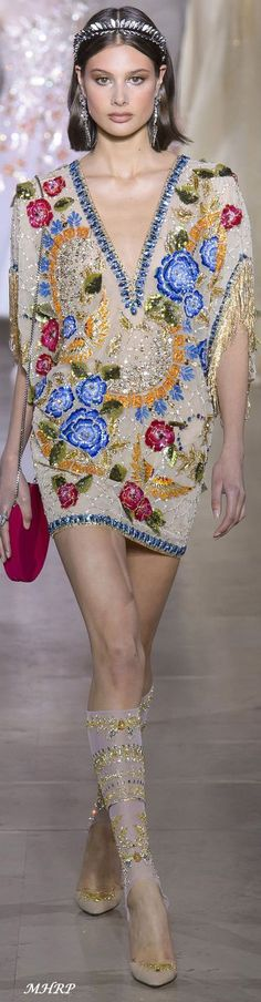 New Embroidery Fashion Haute Couture Georges Hobeika Ideas Style Couture, Couture Mode, Couture Fashion, Runway Fashion, Womens Fashion, Georges Hobeika, Fashion 2018, Fashion Week, High Fashion
