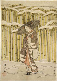 Harunobu Suzuki  Passing the Bamboo Grove