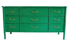 Faux-Bamboo Dresser -- love the color!