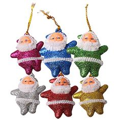 Genluna Christmas Tree Ornaments Small Santa Claus Pendants Colorful *** You can get additional details at the image link.