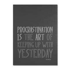 Artistic Procrastination I by Megan Romo Textual Art on Wrapped Canvas