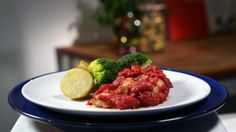 Stuffed chicken with lemon and chilli
