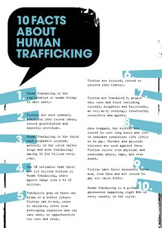 "10 Facts about Human Trafficking. Charities Community Services recognizes prostituted women as victims of sex trafficking and helps them to escape ""the life"" through DIGNITY (Developing Individual Growth and New Independence Through Yourself). We reach out to sex trafficked women on the streets and in the jails. If you need help call 602.997.6105. CatholicCharitiesAZ.org/Dignity"