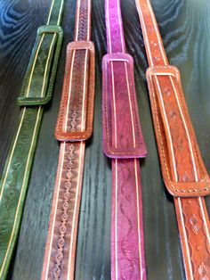 Tooled Leather Camera Strap by TILTadornments on Etsy, $65.00