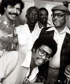 Chick Corea, Art Blakey, Ray Brown, Dizzy Gillespie, and Herbie Hancock