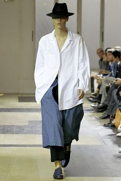 NOTE/IDEA : pant overlay and shirt pattern/style -- Yohji Yamamoto