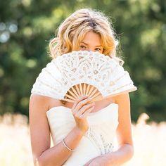 White Lace Hand Fan