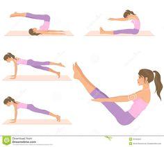 pilates exercises cartoons - Bing Images