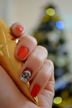 Santa Clause Nail Art Design ♥