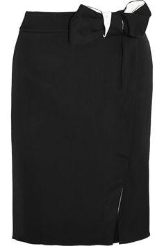 Lanvin|Bow-embellished crepe skirt| £795.83