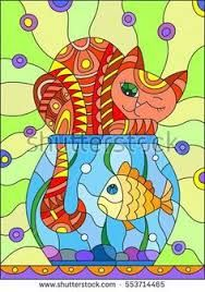 Image result for carp vector stained glass