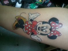 Minnie Mouse. Done by Pat at Murda Ink 3 Tattoos in West Babylon,NY