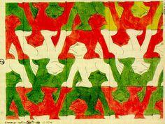Escher's 1937-lions
