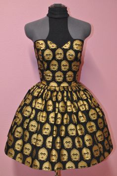 Star Wars C3po Dress by CakeShopCouture on Etsy