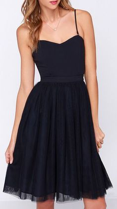 Every woman should have a dress for dancing.  Ballet Liaisons Strapless Navy Blue Dress. #dresses #navy