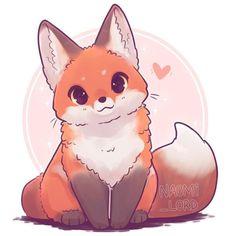 Cute Drawings Of Animals Kawaii Cute Kawaii Animals, Cute Animal Drawings Kawaii, Cute Drawings Of Animals, Cute Animals To Draw, Happy Animals, How To Draw Foxes, Rare Animals, Felt Animals, Art Kawaii
