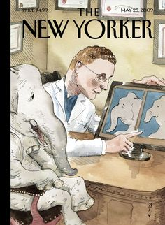 "The New Yorker - Monday, May 25, 2009 - Issue # 4311 - Vol. 85 - N° 15 - Cover ""Nip and Tuck"" by Barry Blitt"